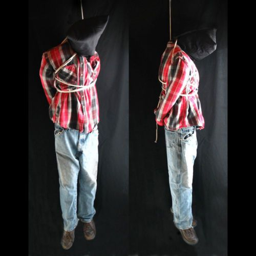 lifesize 6 hanging man scary haunted house halloween life size prop - Scary Props