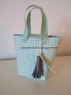 Stoff und Stempel Envelope Punchboard Handtasche aus Papier