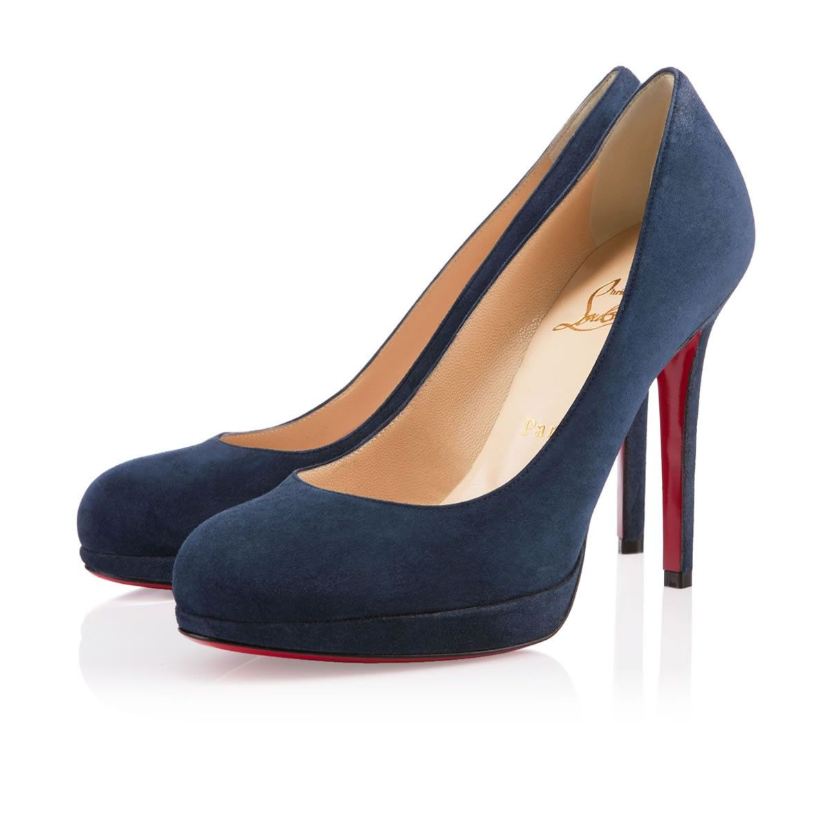 chaussures louboutin bleu marine