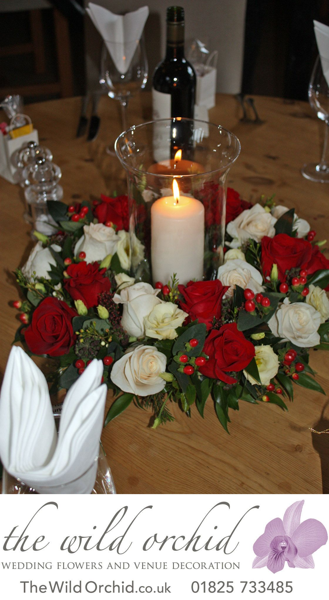 Freya And I Just Wanted To Say A Big Thank You For All Your Help And Organisation Christmas Wedding Flowers Wedding Flower Girl Basket Orchids Wedding Flowers