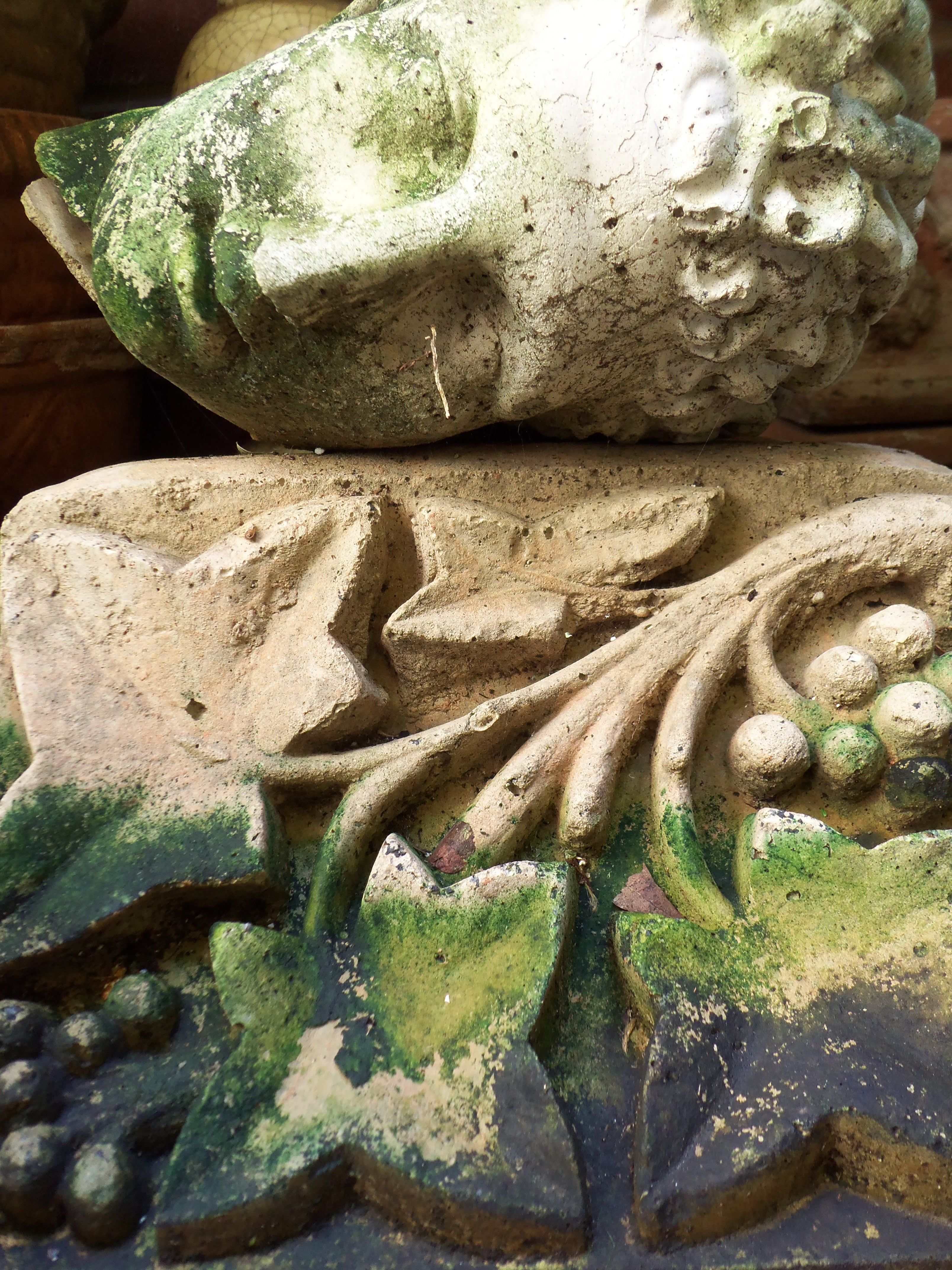 cement garden decor by unpotpourri . see our etsy shop www.etsy.com ...