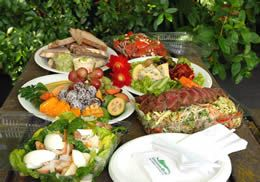 Picnic food includes meat fruits and desserts and do not forget the picnic food includes meat fruits and desserts and do not forget the wine cheese and forumfinder Images