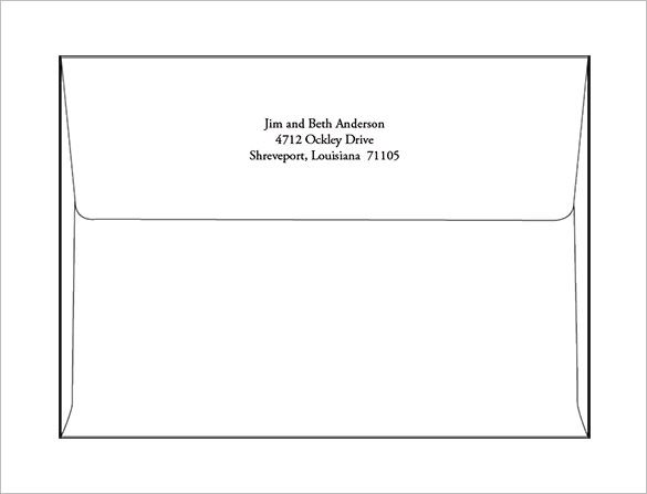 A7 Envelope Templates  2013 11+ Free Printable Word, PSD, PDF Format - sample 5x7 envelope template