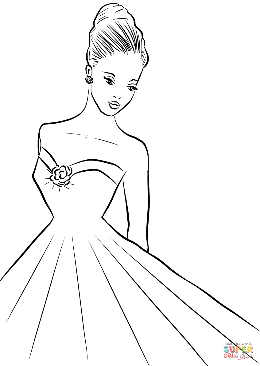 1960 S Woman Coloring Page Free Printable Coloring Pages Coloring Pages Free Printable Coloring Art Drawings Sketches Simple
