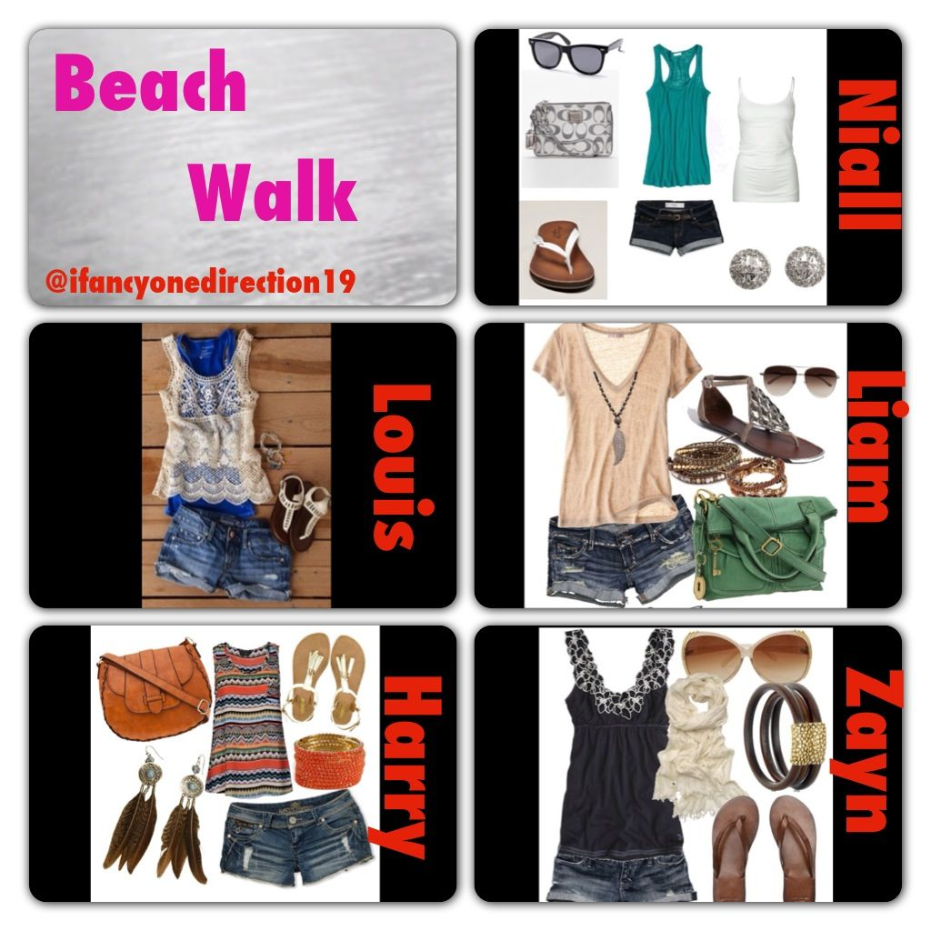 Design t shirt one direction - One Direction Beach Outfits