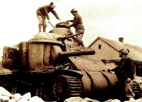 M3 tank captured by Italians in North Africa