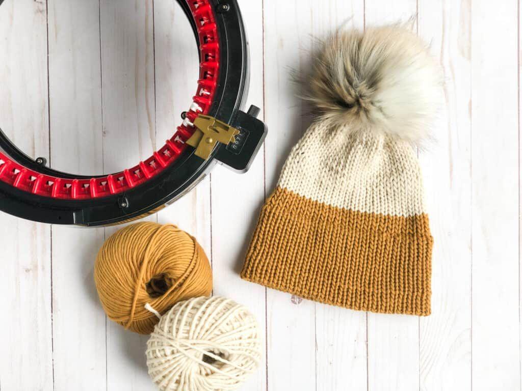 Free Knitting Machine Hat Pattern Maci Beanie Whimsy North In 2021 Knitting Machine Patterns Knitting Machine Hat Knitting Machine Hat Patterns