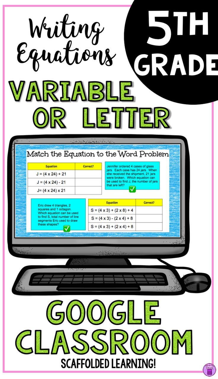 Writing Equations Using Variable or Letter for the Unknown