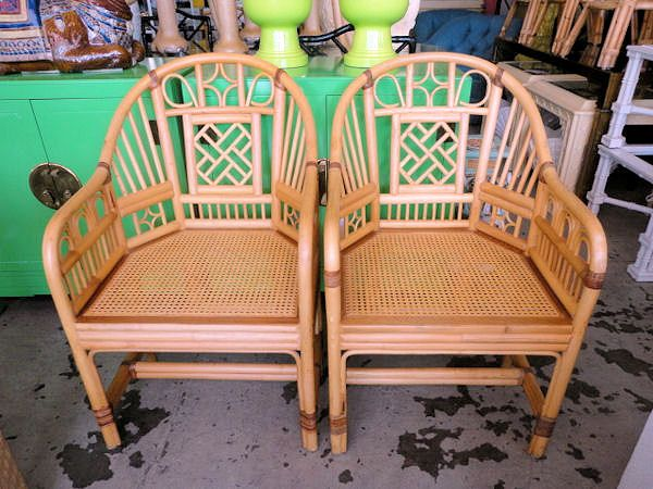 Check out CircaWho for stuff like this - Brighton Pavillion Style Rattan Fretwork Chairs