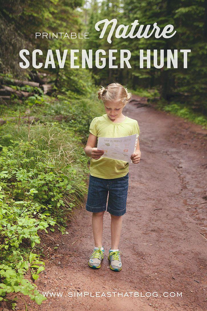 Printable Nature Scavenger Hunt Nature Scavenger Hunts Fun Outdoor Activities Outdoor