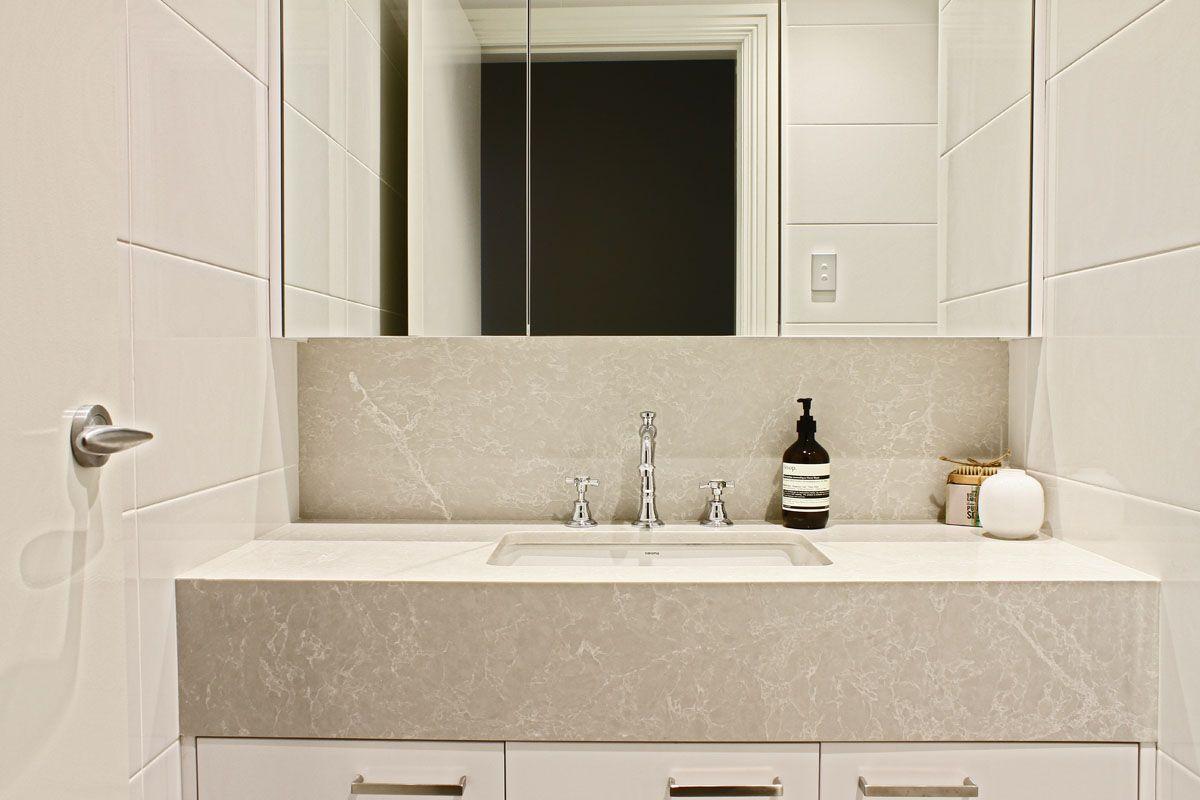 Kerry Selby Brown Design Featuring Caesarstone Alpine Mist Sink Bench Top Caesarstone 2014