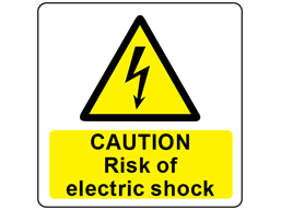 Caution Risk Of Electric Shock Symbol And Text Safety Label Rlw06 Label Source Electric Shock Electricity Shock