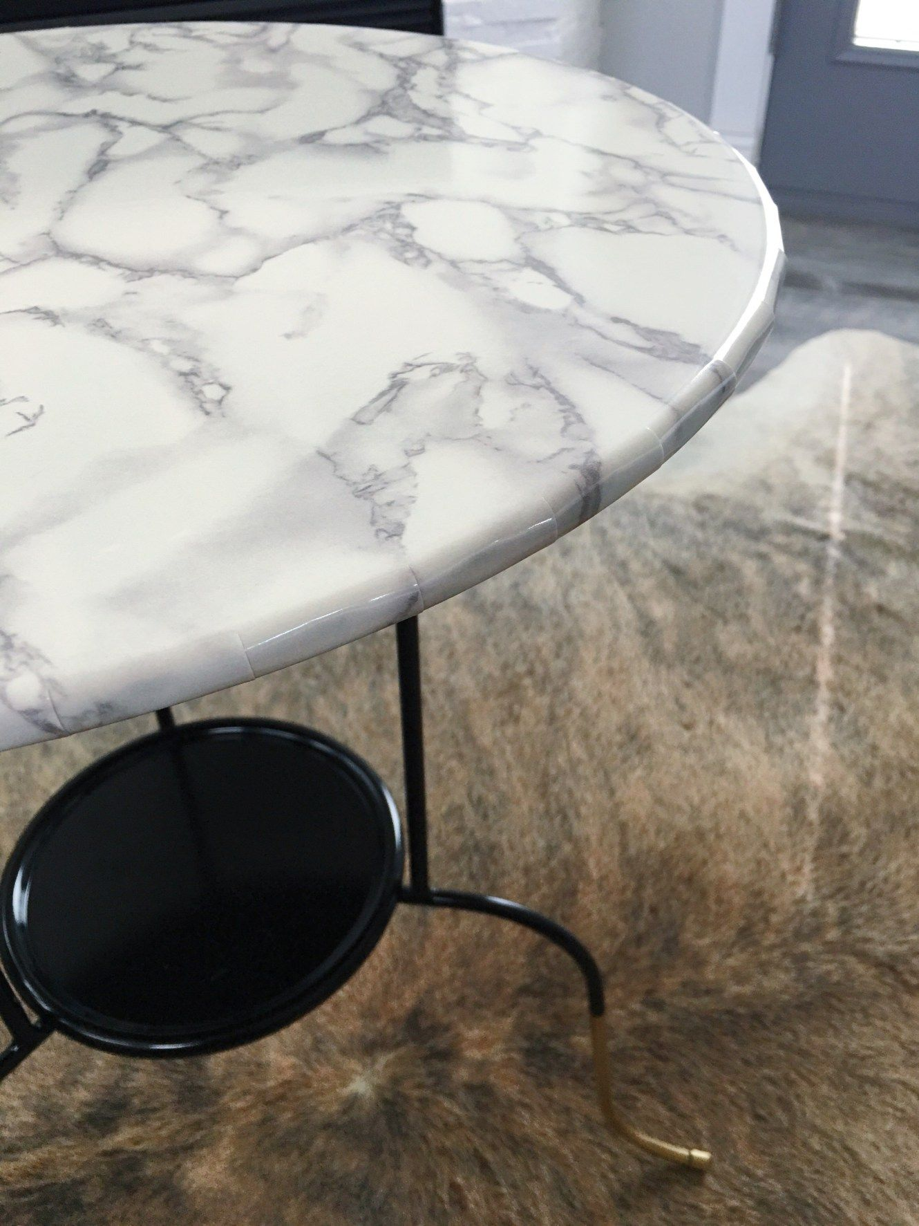 Ikea Hack, Lindved Table, Marble Top Side Table, Marble Contact