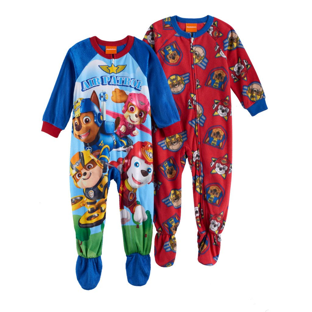 Paw Patrol Toddler Boy Red Footed Blanket Sleeper Pajamas New 4T