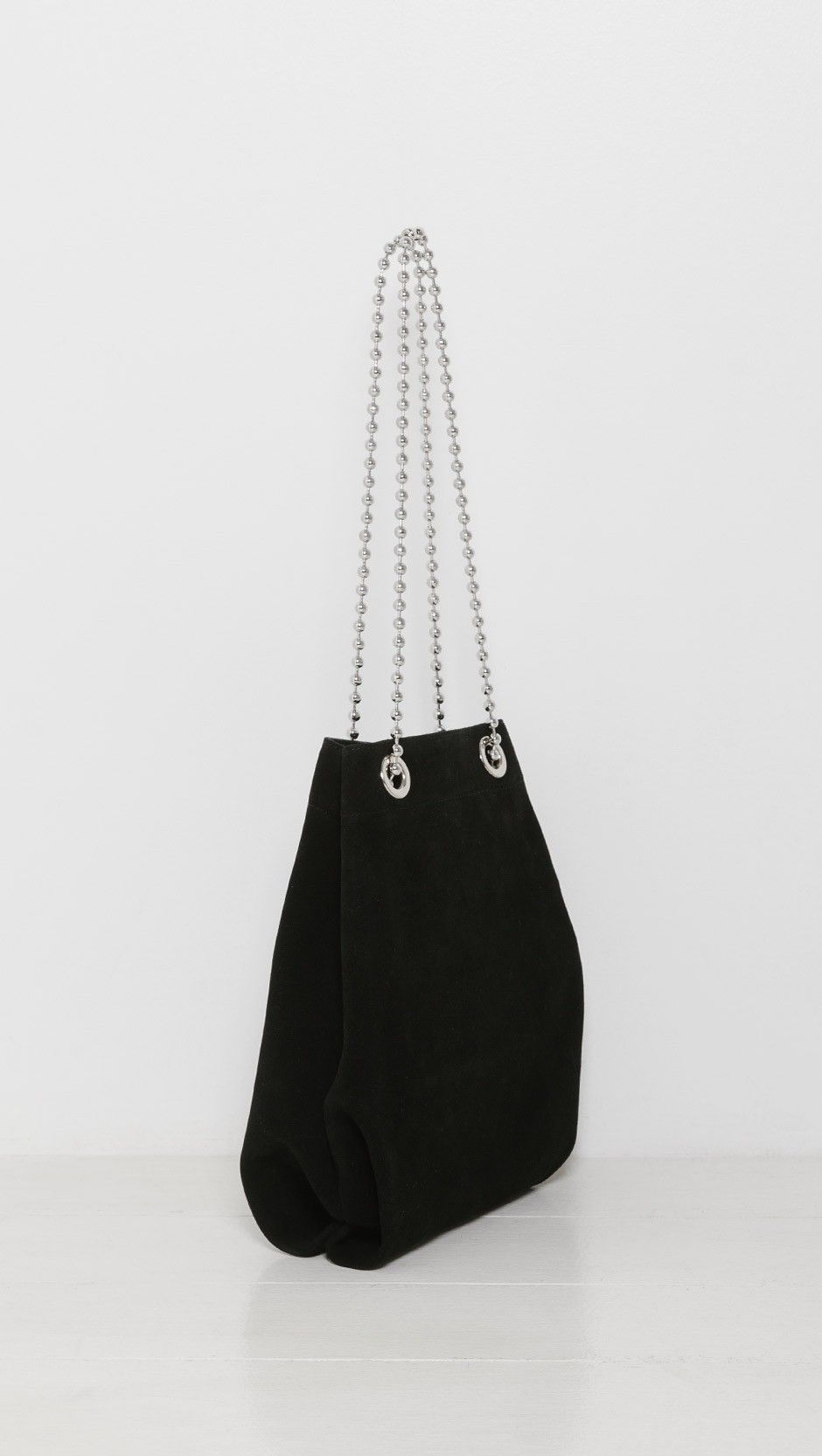 d98f9f8e92 MM6 Maison Martin Margiela Suede Chain Bag in Black 900 | The ...