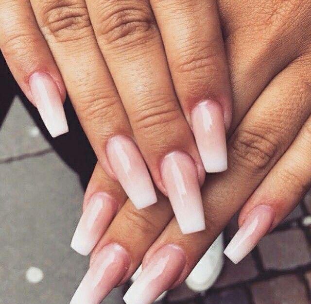 pink ombre ballerina nails pinteres. Black Bedroom Furniture Sets. Home Design Ideas