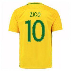 cf36b015d 2016 Brazil National Team Zico 10 Home Soccer Jersey  D982