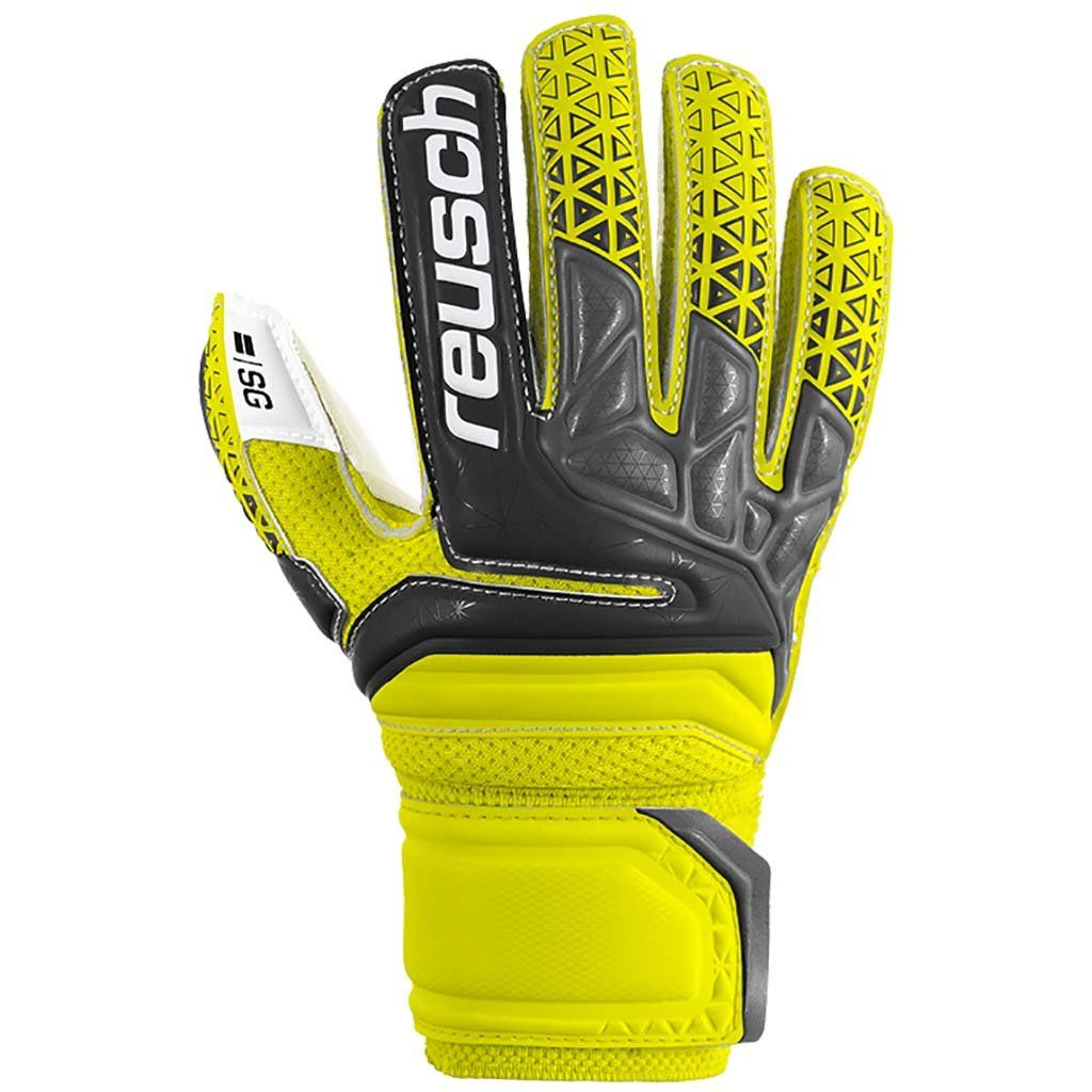Reusch Soccer Pulse Prime S1 Finger Support Junior Goalkeeper Glove Yellow//Green Pair