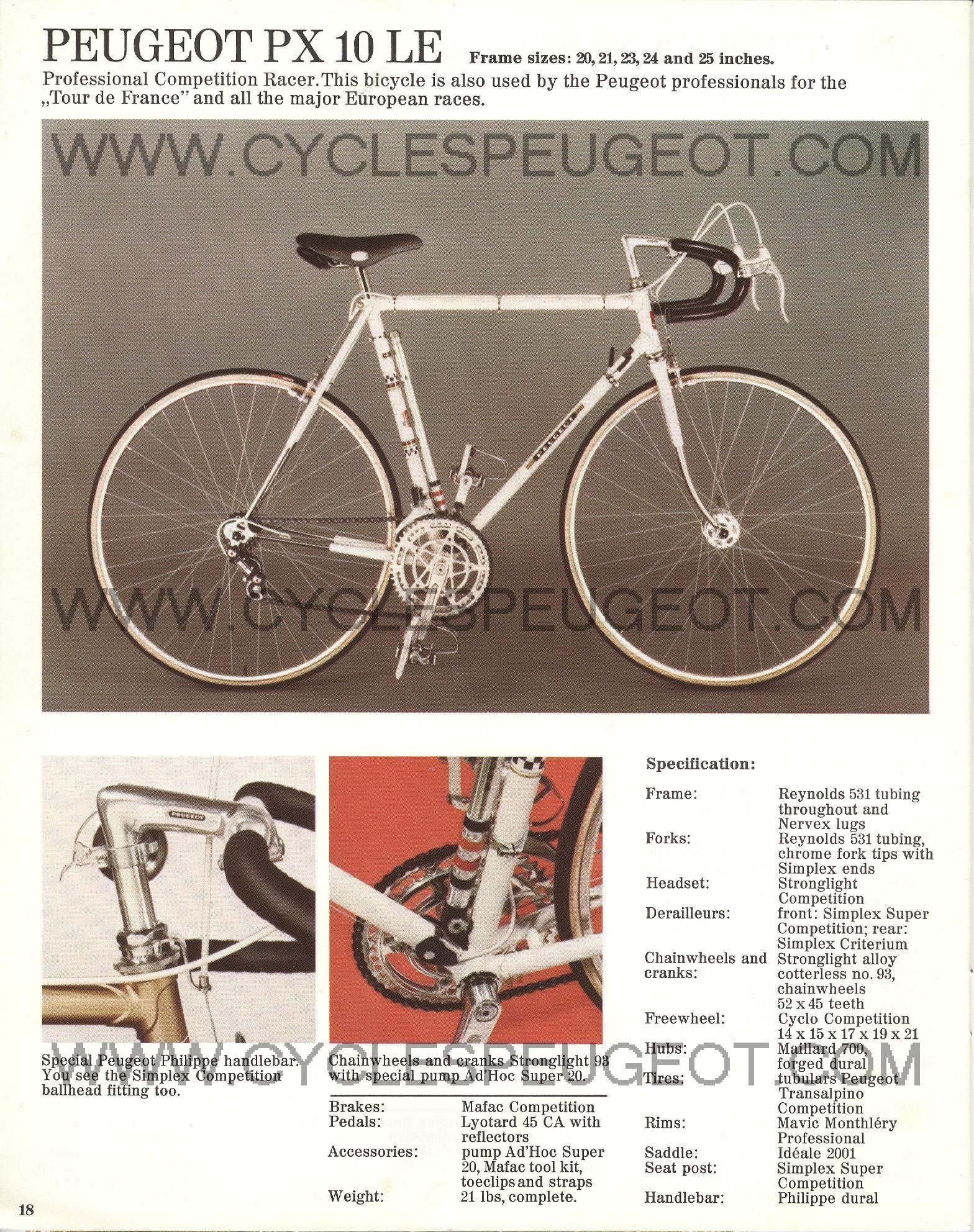 Peugeot Px 10 Le Classic Road Bike Peugeot Peugeot Bike