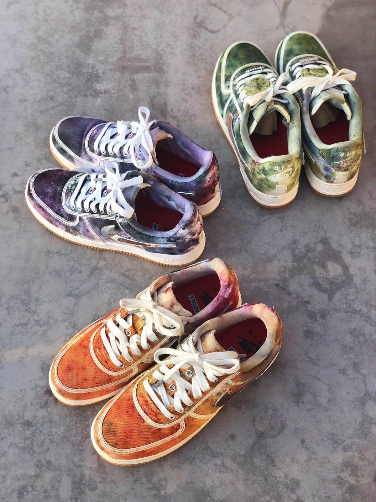 competitive price 3677c c6152 Joey Hamilton Gives Tie Dye Update To Travis Scott Nike Air Force 1   Nice  Kicks