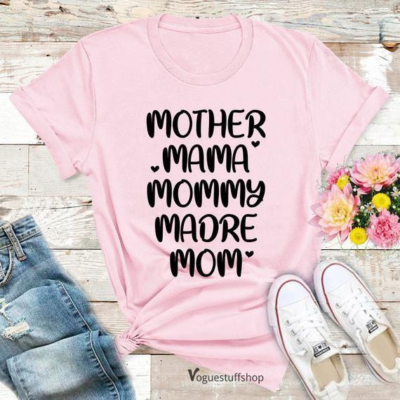 "Mother's Day T Shirt Mother Shirt Mam Shirt Mommy Shirt Madre Shirt Mom Shirt Mum Shirt Mothers Day gift  Mummy Shirt Gift For Mom Best TeesSIZE GUIDE Adult Unisex T Shirts       S : 34""- 36""   M : 38""- 40""   L : 42""- 44""   XL : 46""- 48""   XXL : 50""-52""         XXXL : 54"" - 56""Unisex T-shirts Size Conversion to Women Size     S: UK 8-10 , USA 4-6 , Europe 34-36   M: UK 12-14 , USA 8-10 ,      Europe 38-40   L: UK 14-16, USA 10-12 , Europe 40-42   XL : UK 18-      20 , USA 14-16, Europe 44-46   2"