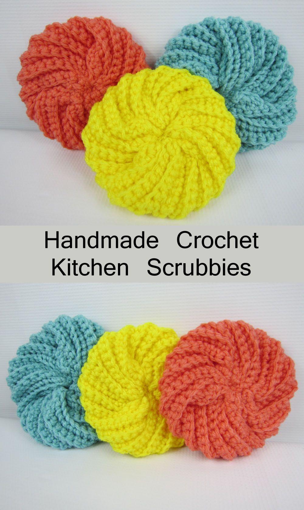 Hermosa Patrón De Crochet Scrubbie Molde - Manta de Tejer Patrón de ...