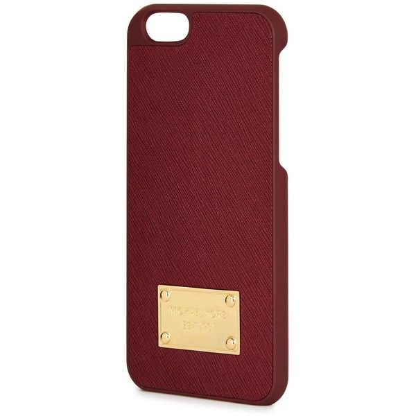 the best attitude f82b0 ac7d5 Womens IPhone Michael Kors Burgundy Leather And Acetate IPhone 6 ...