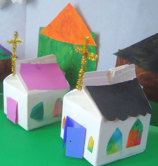 """Catholic ABC's Week: 20 Letter of the week: O Theme: Offering Saint of the Week: Our Lady of Guadalupe Craft: Church """"Piggy Bank"""" Materials Needed to Complete This Craft: Small Mi…"""