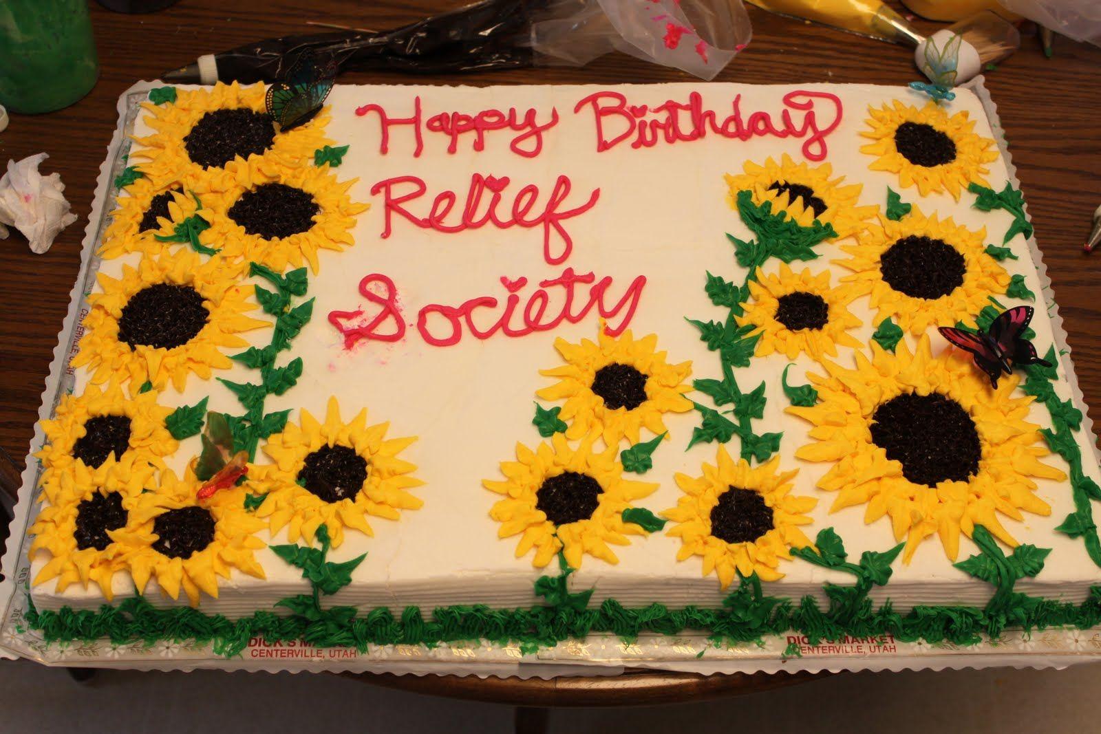 Birthday Cakes Utah ~ Sunflower sheet cake designs cute cakes baking tips n hints and
