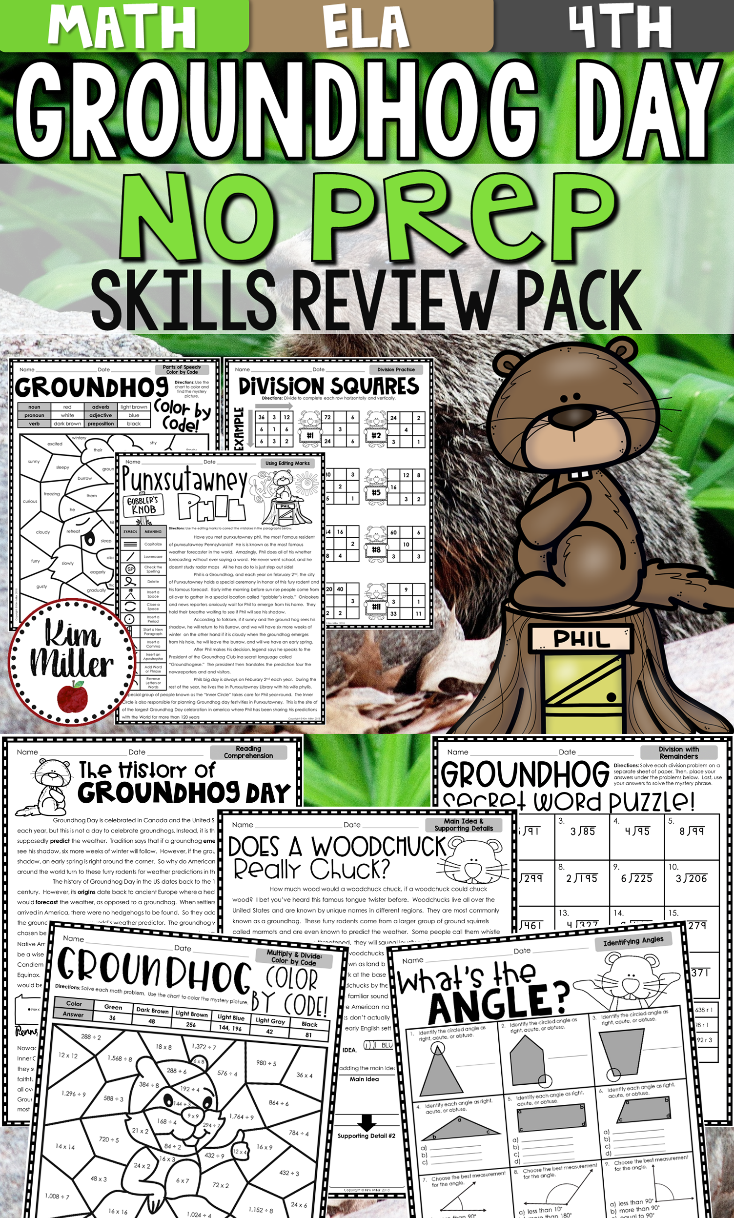 Groundhog Day Activities No Prep Math And Reading Packet