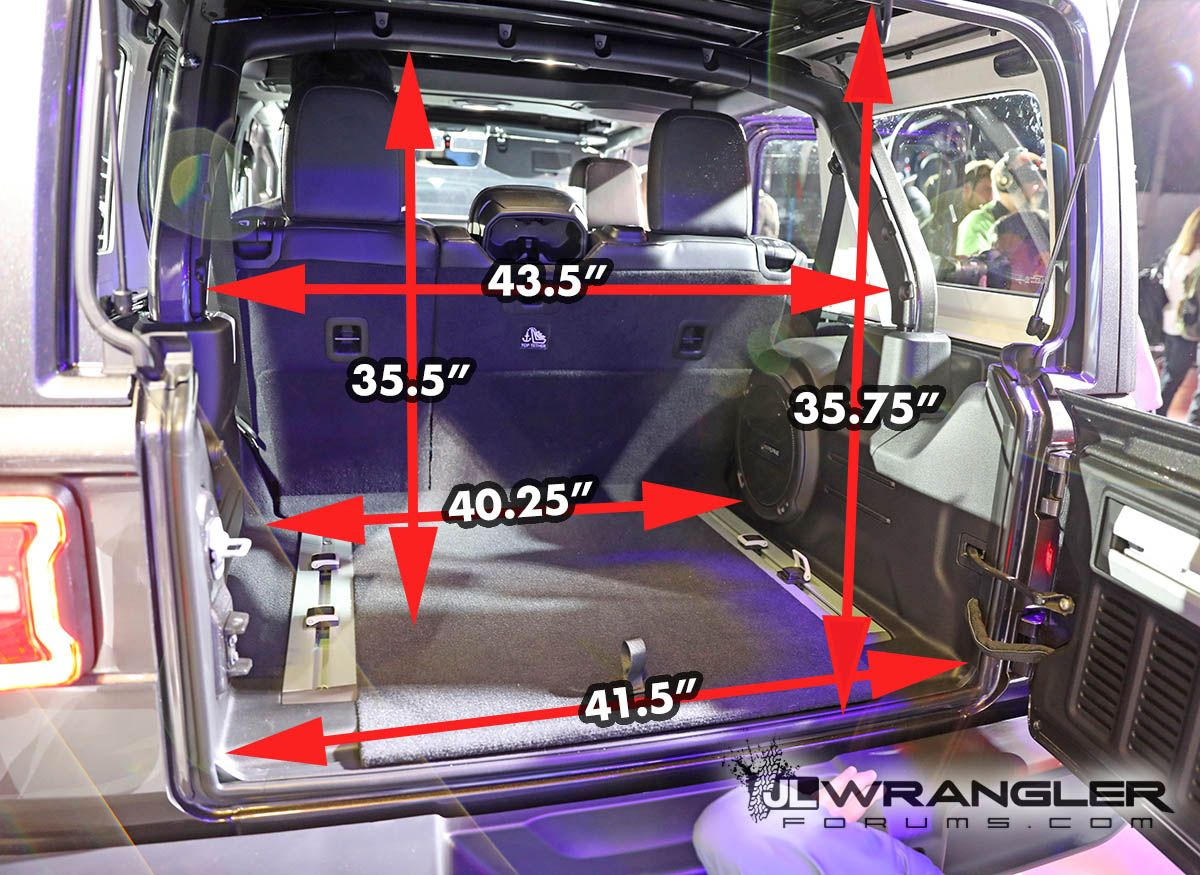 Jeep Wrangler Jl Cargo Trunk Dimensions Measurements0 Jpg Jeep Wrangler Unlimited 2017 Jeep Wrangler Unlimited Jeep Wrangler Camping