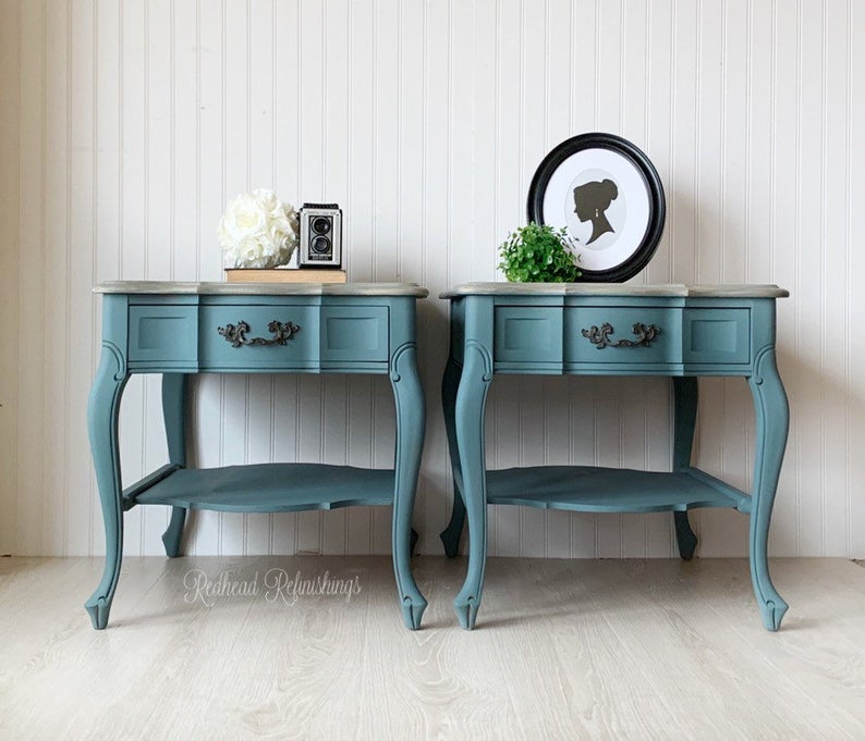 Soldend Tables Nightstands Bedside Tables French Etsy Upcycled Furniture Before And After French Bedside Tables Furniture