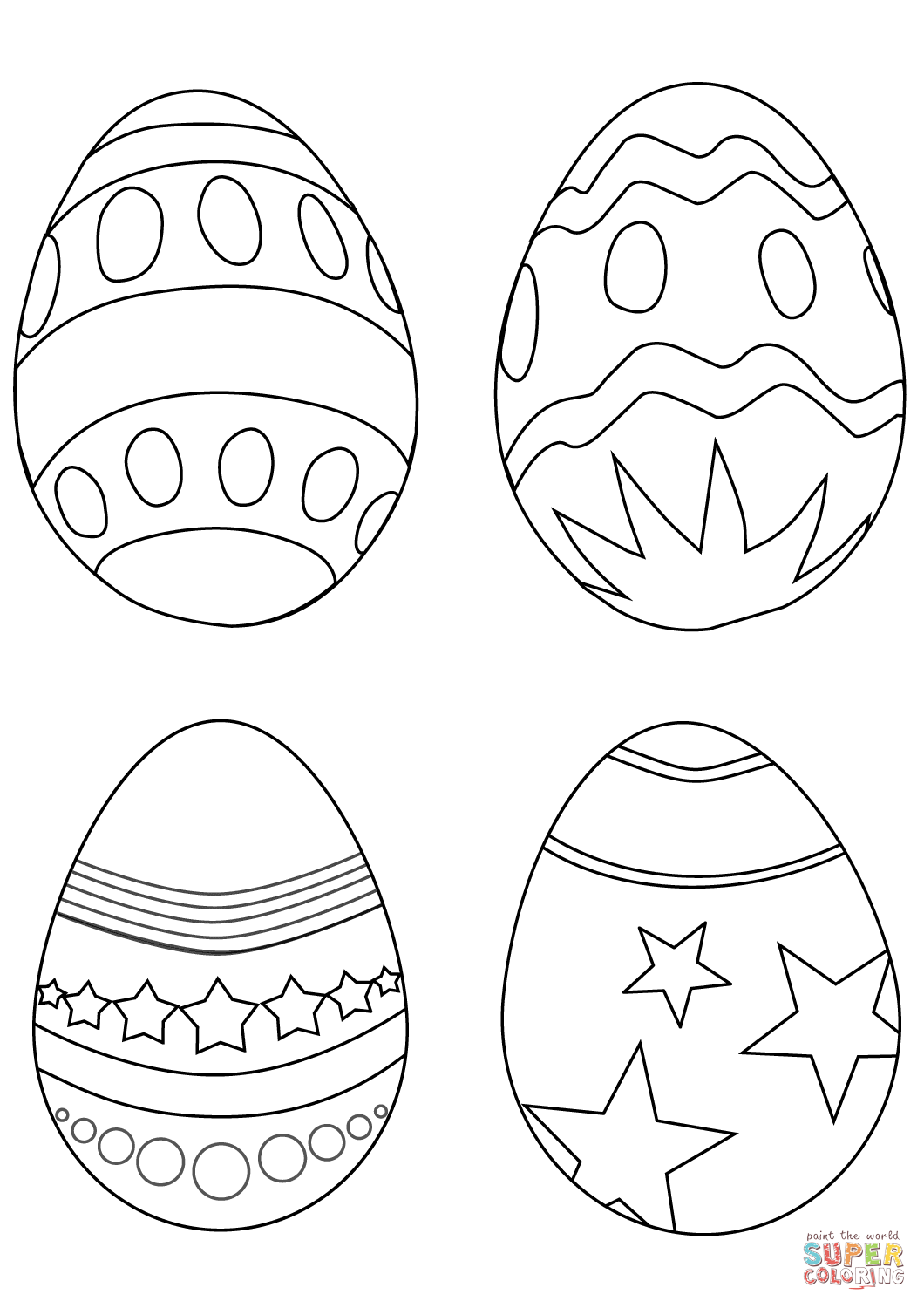 Simple Easter Eggs Coloring Page Free Printable Coloring Pages Coloring Easter Eggs Easter Egg Coloring Pages Easter Coloring Book