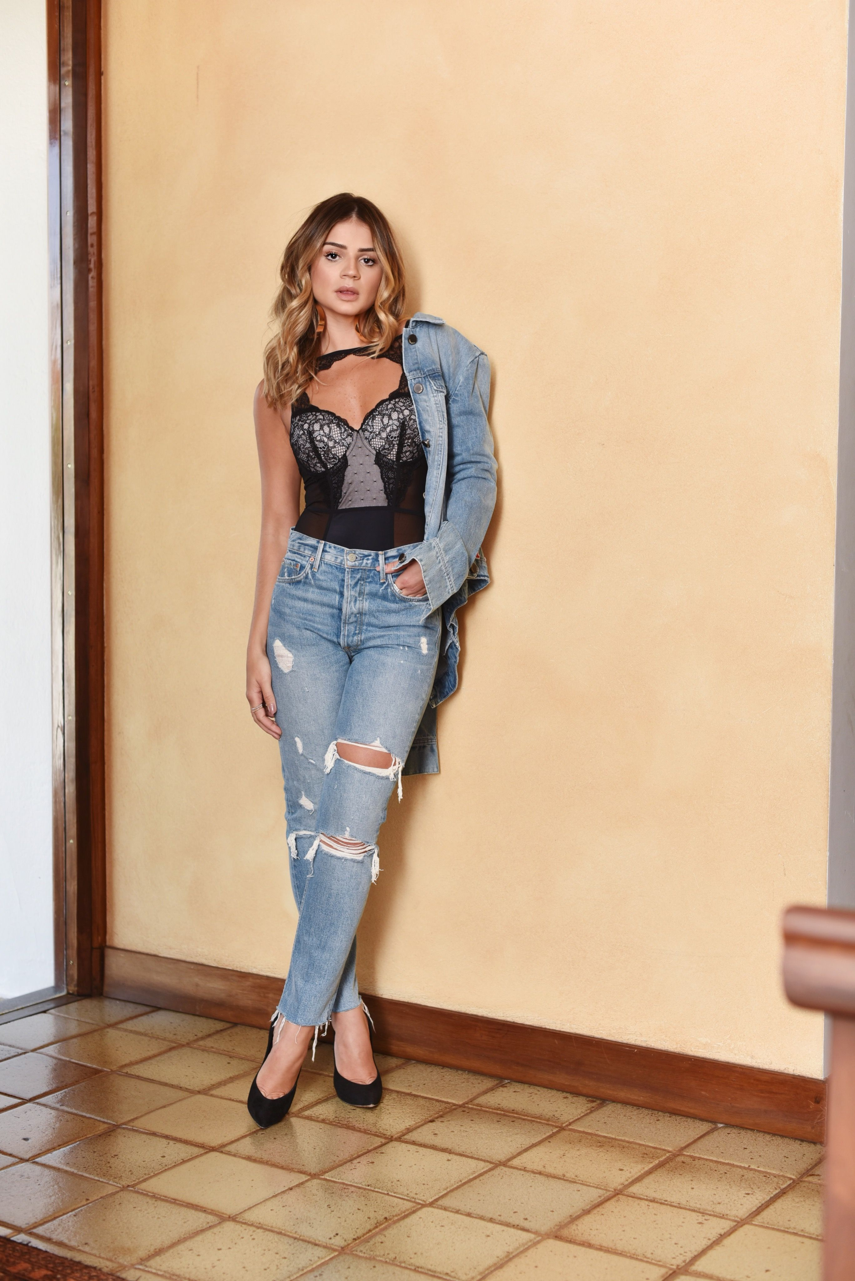 43c1bb984 Look Total Jeans and lingerie