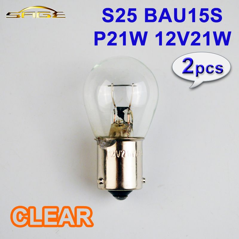 2 Pieces Lot P21w Bau15s S25 Clear Glass Car Tail Bulb Auto Indicator Lamp 581 12v 21w Reversing Light With Images Car Lights Bulb Clear Glass