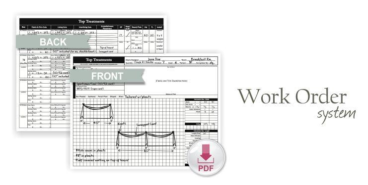 Work Order Forms  Interior Design    Order Form And