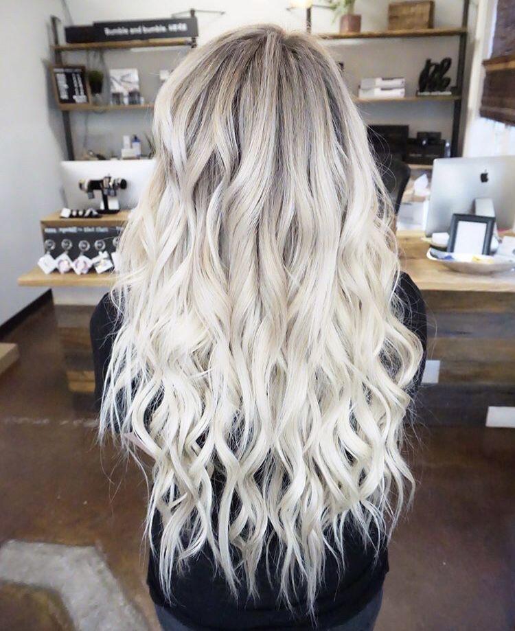 Platinum Blonde Bright White Extensions Babylights Highlights
