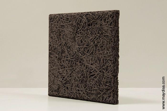 Panel acústico natural decorativo para pared legnomuro antracita by