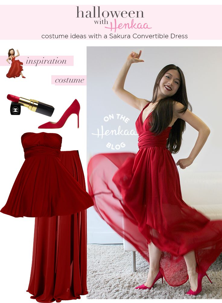halloween costume red dress dancing emoji