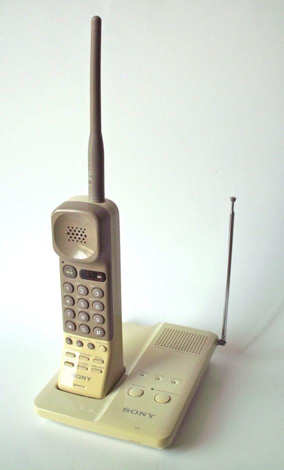 vintage sony spp 90 remote phone with ac adaptor and manual rh pinterest com Panasonic Cordless Phones Sony Cordless Telephone Answering Machine