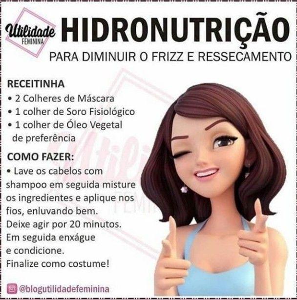 www.pinterest.com/telmafs2013 | Nutrição para cabelo ...