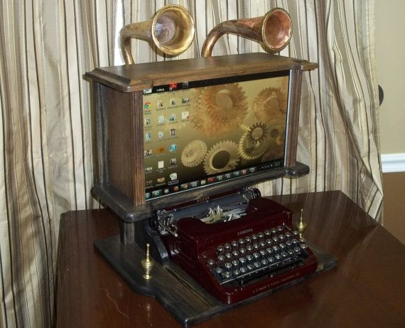 Steampunk Computer Monitor. Victorian By MachineAgeComputing, $690.00