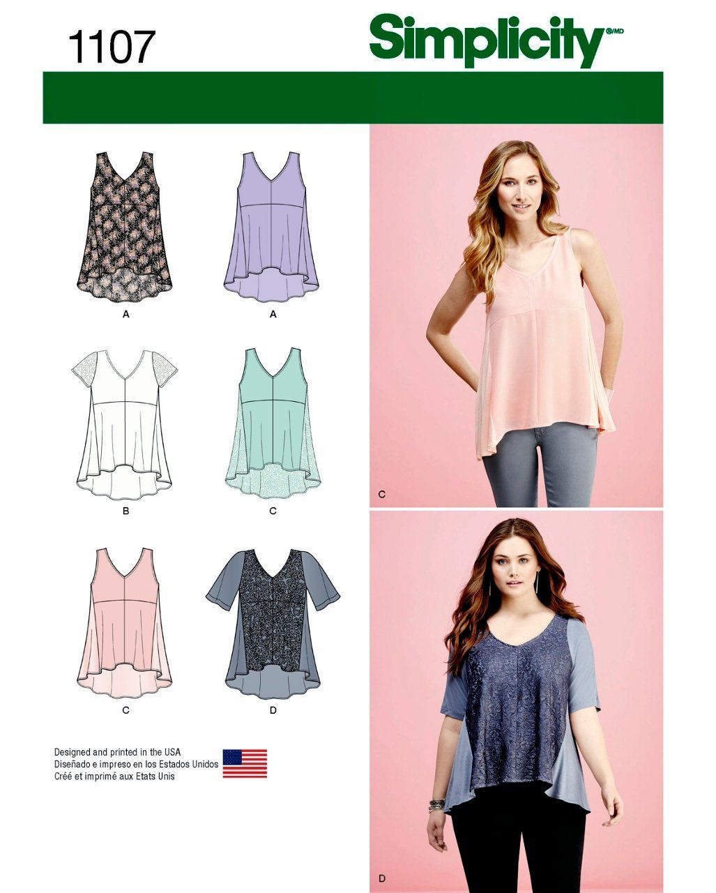Pullover Tops Pattern Loose Fitting Tops Pattern High Low Tops Pattern Sz 4 To 26 Simplicity Sewi Sewing Top Top Sewing Pattern Simplicity Sewing Patterns