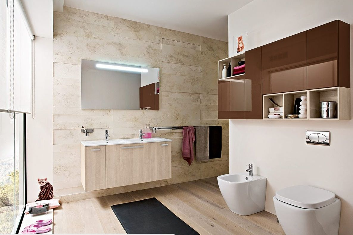 Cool Toilet Cabinet Design In Soft Color Suitable For Modern Bathroom Magnificent Wooden C Bathroom Design Contemporary Small Bathrooms Modern Bathroom Decor