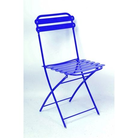 Chaise Pliante Paris Bleu Fonc