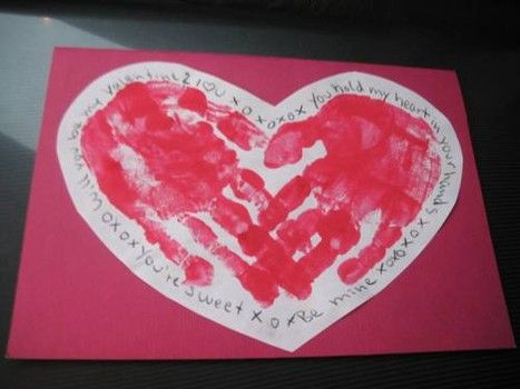 Fun And Easy Handprint Heart Craft For Valentine S Day Another Idea