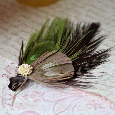feather hair clip, very cute for summer!