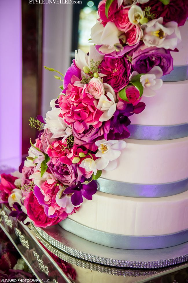 Radiant Orchid Wedding Cake / see more Radiant Orchid wedding details http://styleunveiled.com/wedding-blog/category/radiant-orchid-wedding / Alimario Photography LLC