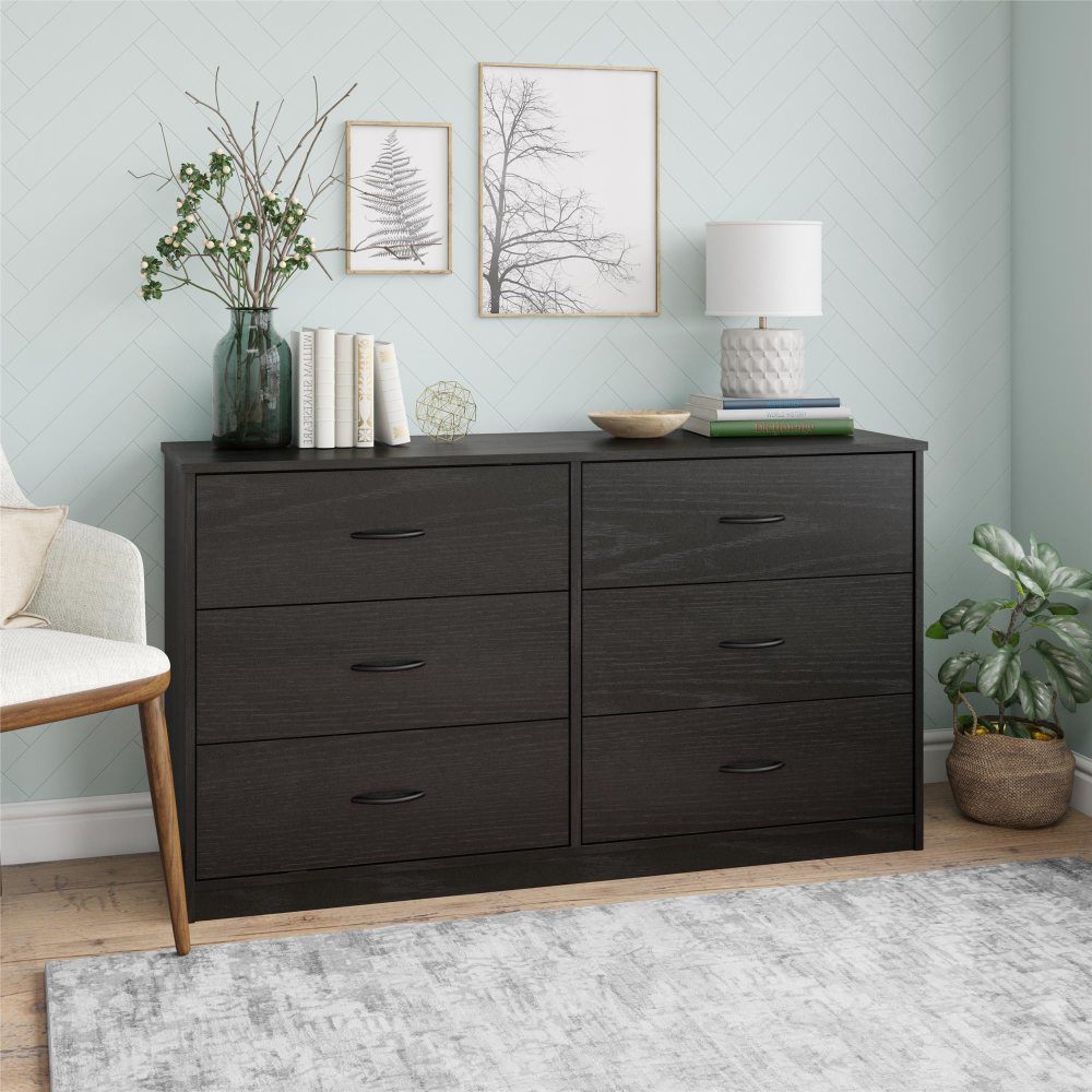 Mainstays Classic 6 Drawer Dresser Black Oak Finish Walmart Com In 2021 Dresser Drawers Bedroom Dressers 6 Drawer Dresser [ 1000 x 1000 Pixel ]