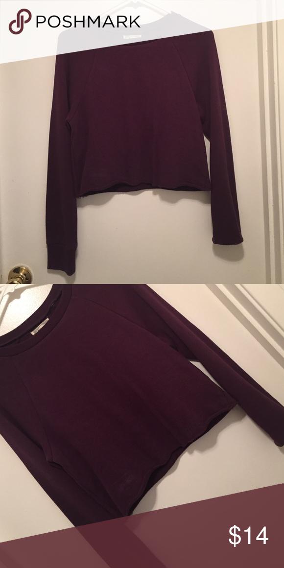 Pacsun kirra purple maroon crop sweater Pacsun kirra purple maroon crop sweater Sweaters